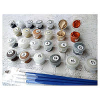 Раскрашивание по номерам DIY Babylon Цветущая набережная худ Ричард Макнейл (VPS553) 50 х 65 см