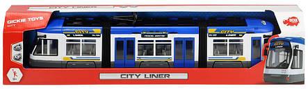 """Городской трамвай """"City Liner"""", 46 см (синий) «Dickie Toys» (3749017), фото 2"""