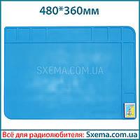 Коврик для пайки силиконовый термоковрик TE-508 480x360мм мат для пайки и ремонта электроники