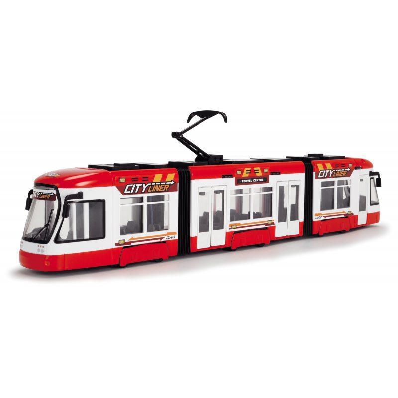 """Городской трамвай """"City Liner"""", 46 см (красный) «Dickie Toys» (3749017)"""