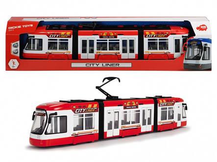 """Городской трамвай """"City Liner"""", 46 см (красный) «Dickie Toys» (3749017), фото 2"""