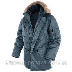 Куртка парку чоловіча зимова довга Аляски N3B Teflon® by DuPont™ Mil-Tec Синій колір Mil-Tec Німеччина