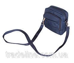Сумка текстильная мужская Nobol 6339-45BLUE Синяя 20 x 17 x 7-9 см., фото 2