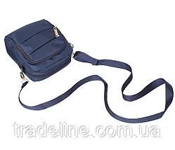 Сумка текстильная мужская Nobol 6339-45BLUE Синяя 20 x 17 x 7-9 см., фото 3