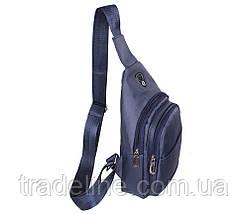 Сумка мини-рюкзак мужская Nobol 6070-325Blue Синяя, фото 2