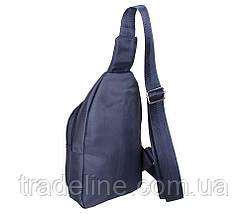 Сумка мини-рюкзак мужская Nobol 6070-325Blue Синяя, фото 3