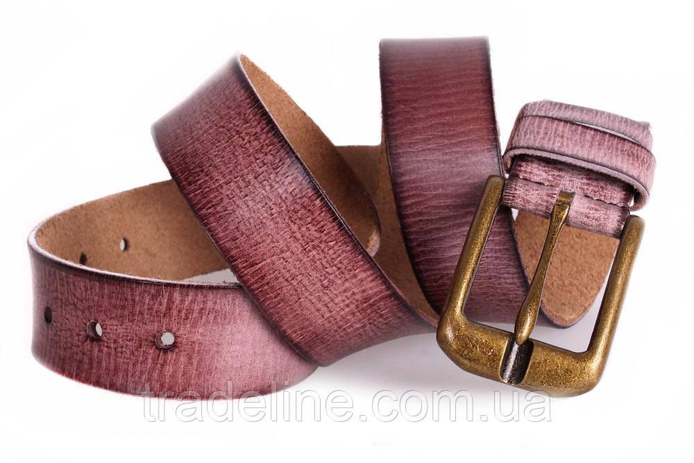 Мужской кожаный ремень Dovhani MX30528383 115-125 см Бордовый