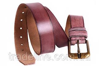 Мужской кожаный ремень Dovhani MX30528383 115-125 см Бордовый, фото 3