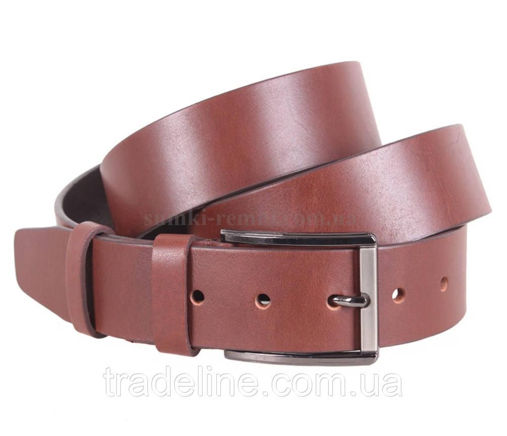 Мужской кожаный ремень Dovhani MXUK88822-22 115-125 см Коричневый