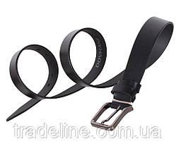 Мужской кожаный ремень Dovhani L406-199123 115-125 см Черный, фото 2