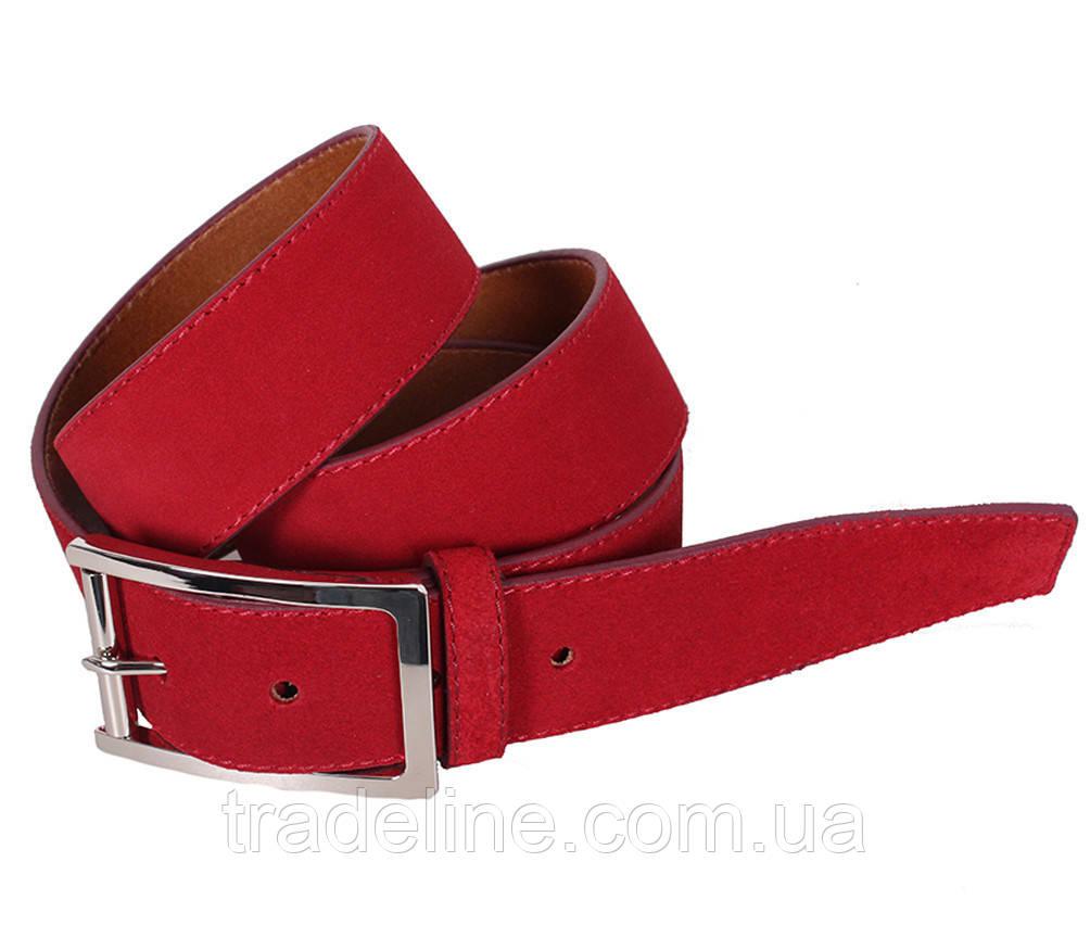 Мужской замшевый ремень Dovhani Z508-19908 115-125 см Красный