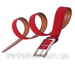 Мужской замшевый ремень Dovhani Z508-19908 115-125 см Красный, фото 2