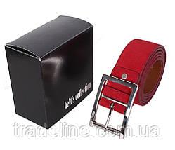 Мужской замшевый ремень Dovhani Z508-19908 115-125 см Красный, фото 3
