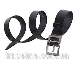 Мужской кожаный ремень Dovhani LL25-193951 115-125 см Черный, фото 2