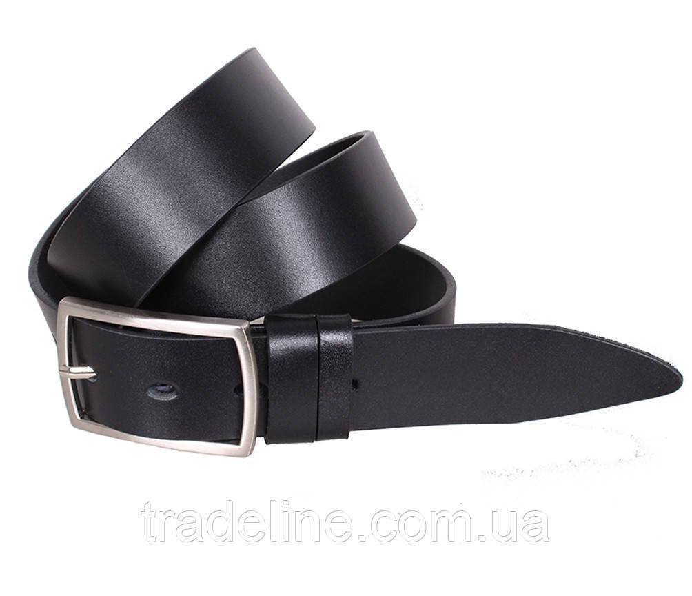 Мужской кожаный ремень Dovhani LL35-1933355 115-125 см Черный
