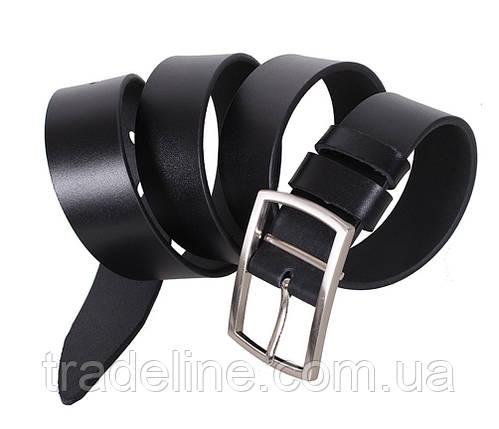 Мужской кожаный ремень Dovhani LL35-1933355 115-125 см Черный, фото 2