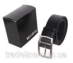 Мужской кожаный ремень Dovhani LL35-1933355 115-125 см Черный, фото 3