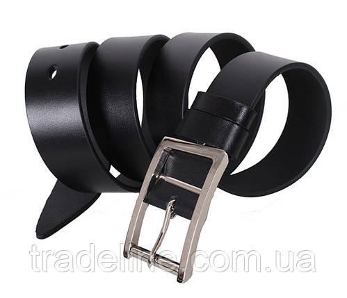 Мужской кожаный ремень Dovhani LL38-1934987 115-125 см Черный, фото 2