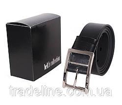Мужской кожаный ремень Dovhani LL38-1934987 115-125 см Черный, фото 3
