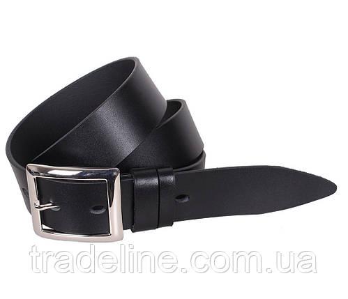 Мужской кожаный ремень Dovhani LL42-1931 115-125 см Черный, фото 2