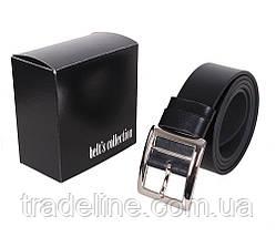 Мужской кожаный ремень Dovhani LL42-1931 115-125 см Черный, фото 3