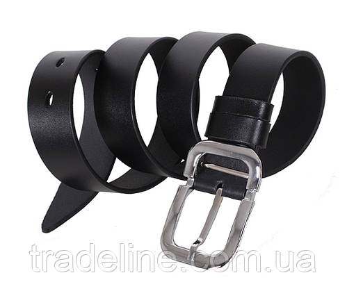 Мужской кожаный ремень Dovhani LL501-1994 115-125 см Черный, фото 2