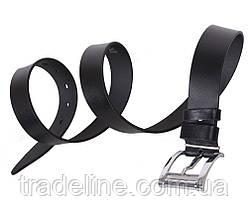 Мужской кожаный ремень Dovhani LL502-1995 115-125 см Черный, фото 2