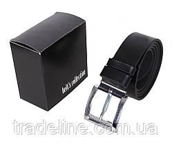 Мужской кожаный ремень Dovhani LL502-1995 115-125 см Черный, фото 3
