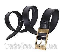 Мужской кожаный ремень Dovhani LP600-1998 115-125 см Черный, фото 2