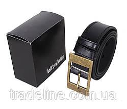 Мужской кожаный ремень Dovhani LP600-1998 115-125 см Черный, фото 3