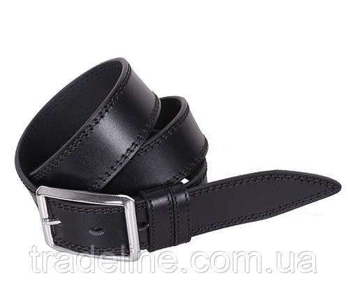 Мужской кожаный ремень Dovhani LP602-199 115-125 см Черный, фото 2