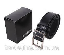Мужской кожаный ремень Dovhani LP605-19912 115-125 см Черный, фото 3