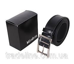 Мужской кожаный ремень Dovhani LP606-19913 115-125 см Черный, фото 3