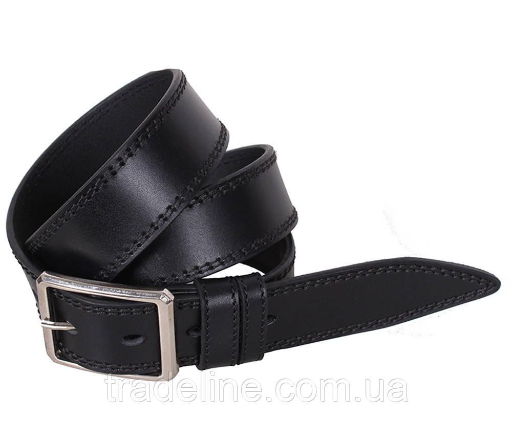 Мужской кожаный ремень Dovhani LP612-19919 115-125 см Черный