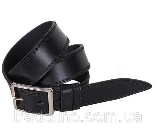 Мужской кожаный ремень Dovhani LP612-19919 115-125 см Черный, фото 2