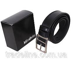 Мужской кожаный ремень Dovhani LP612-19919 115-125 см Черный, фото 3