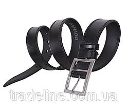 Мужской кожаный ремень Dovhani LP613-19920 115-125 см Черный, фото 2