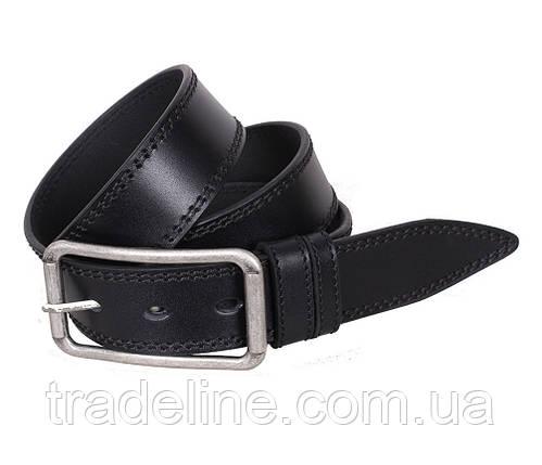 Мужской кожаный ремень Dovhani LP615-19922 115-125 см Черный, фото 2