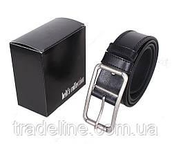 Мужской кожаный ремень Dovhani LP615-19922 115-125 см Черный, фото 3
