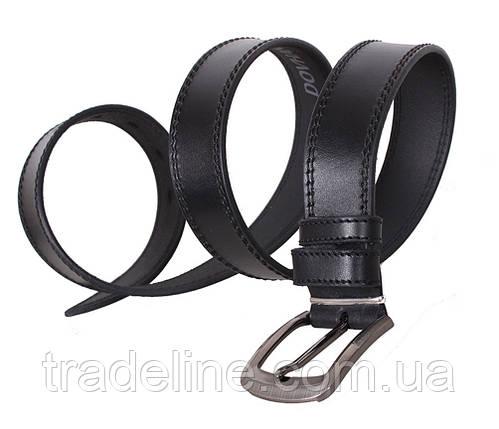 Мужской кожаный ремень Dovhani LP617-19924 115-125 см Черный, фото 2