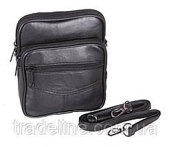 Мужская кожаная сумка Dovhani BL30370227 Черная, фото 3