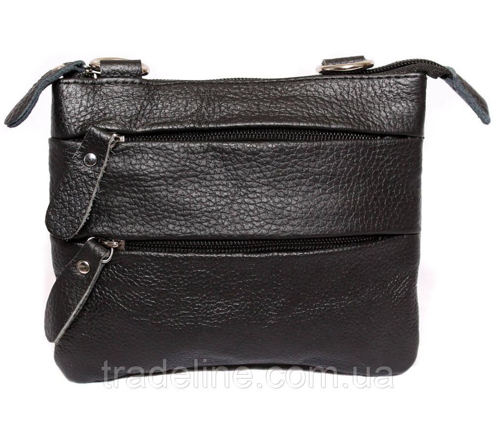 Мужская кожаная сумка Dovhani BL30015133 Черная