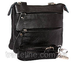 Мужская кожаная сумка Dovhani BL30015133 Черная, фото 2