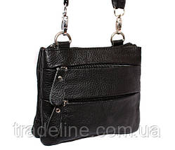 Мужская кожаная сумка Dovhani BL30015133 Черная, фото 3