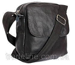 Мужская кожаная сумка Dovhani BL30015436 Черная, фото 2