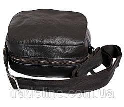 Мужская кожаная сумка Dovhani BL30015436 Черная, фото 3