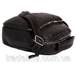 Мужская кожаная сумка Dovhani BL30012437 Черная 27 x 25 x 9 см, фото 3