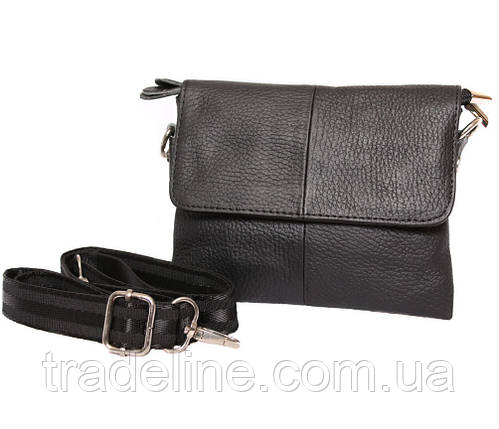 Мужская кожаная сумка Dovhani BL30014542 Черная, фото 2