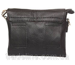 Мужская кожаная сумка Dovhani BL30014542 Черная, фото 3