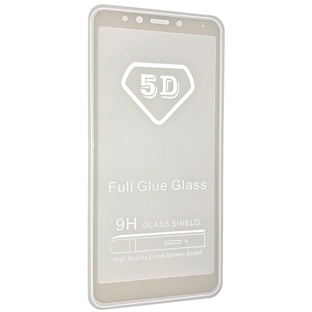 Защитное стекло 5D full glue для Xiaomi Redmi 5 Белый
